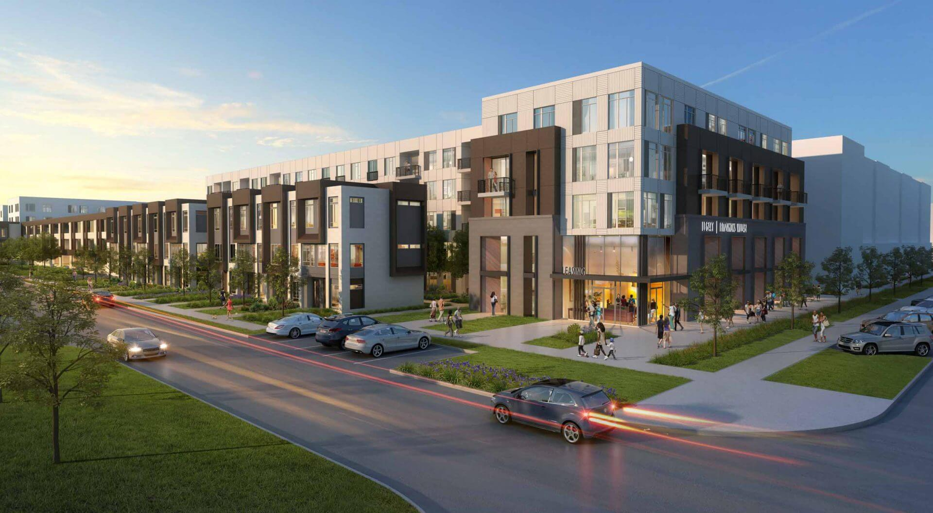 Front View of Apartments   Rendering   Legacy at Fitz